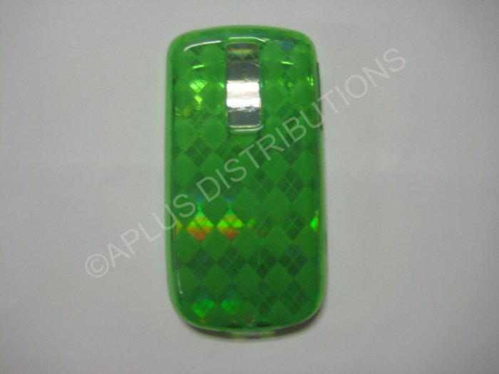 "New Green Plaid Print TPU Cover For Htc My Touch ""G2"" - (0018)"