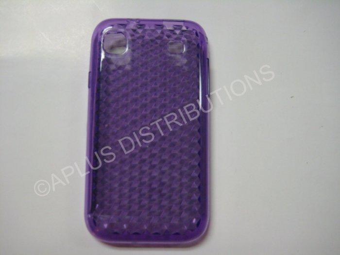 New Purple Diamond Cut Pattern TPU Cover For Samsung Galaxy S I9000 - (0012)