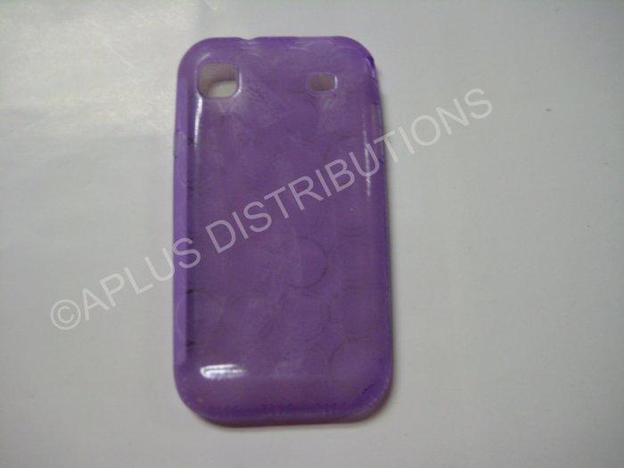 New Purple Transparent Multi-Circles TPU Cover For Samsung Galaxy S I9000 - (0009)