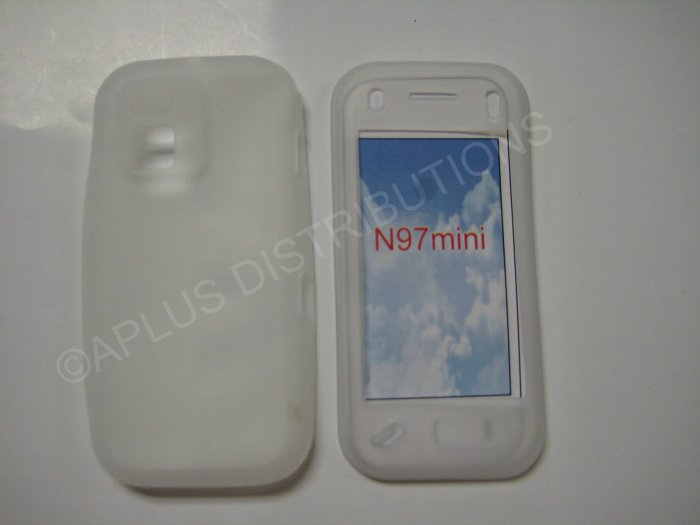 New Clear Solid Color Silicone Skin Case For Nokia N97 Mini - (0007)