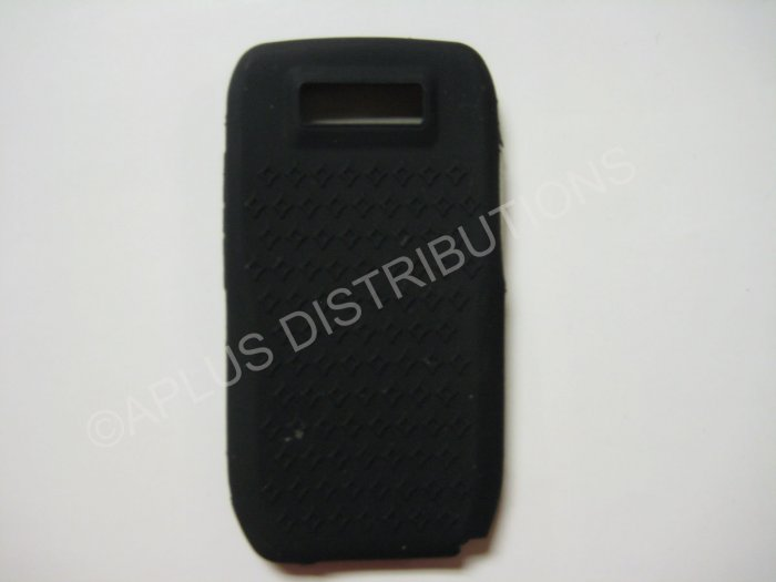 New Black Diamond Print Silicone Skin Case For Nokia E71 - (0001)