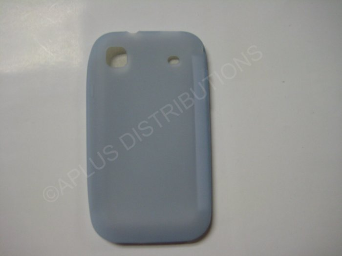 New Light Blue Solid Color Silicone Skin Case For Samsung Galaxy S I9000 - (0010)