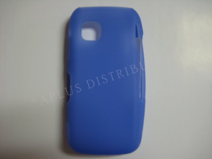 New Dark Blue Solid Color Silicone Skin Case For Nokia Nuron 5230 - (0011)