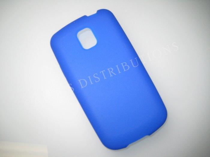 New Dark Blue LG Optimus T Silicone Skin Case For LG Optimus T P509 - (0011)