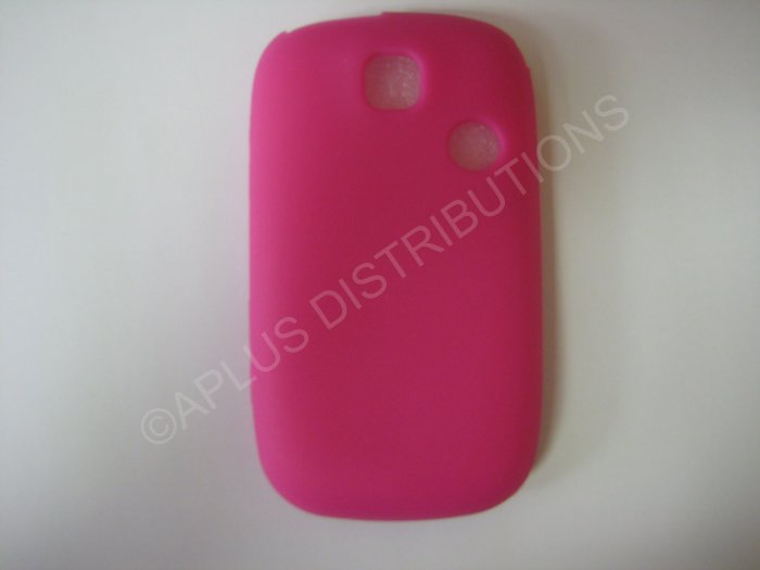 New Hot Pink Solid Color Silicone Skin Case Cover For T-Mobile Tap  - (0009)