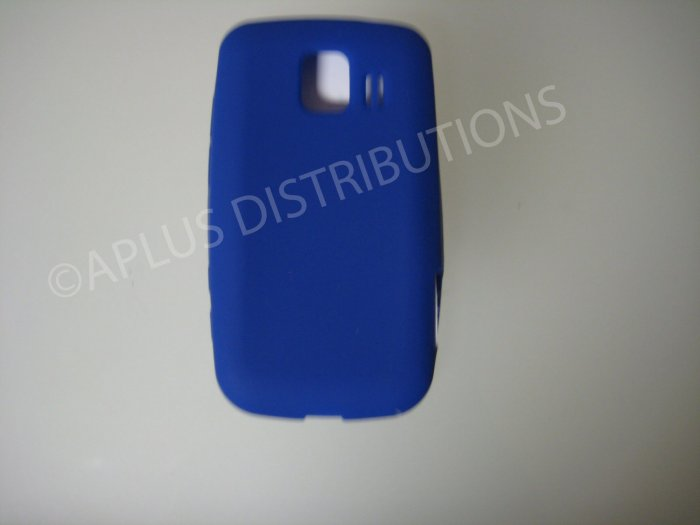 New Navy Blue Solid Color Silicone Skin Case For LG Optimus S LS670 - (0019)