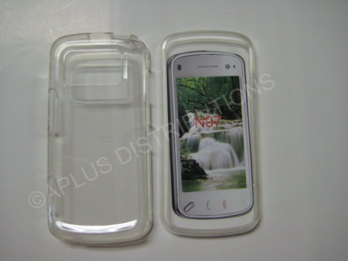 New Clear Transparent Hard Protective Cover For Nokia N97 - (0059)