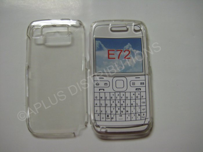 New Clear Transparent Hard Protective Cover For Nokia E72 - (0059)