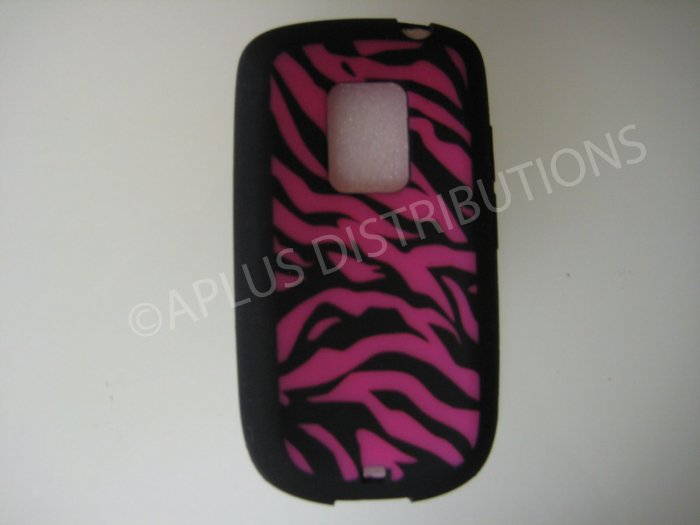 New Black Zebra Design Silicone Skin Case For HTC Hero Cdma - (0005)
