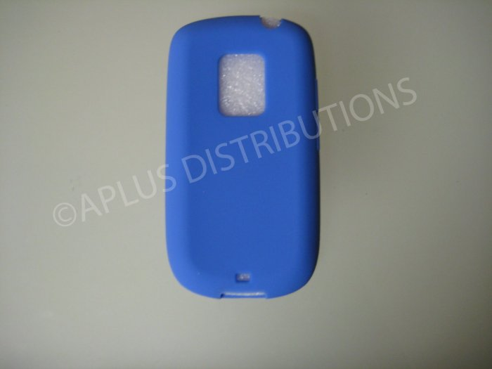 New Blue Solid Color Silicone Skin Case For HTC Hero Cdma - (0010)