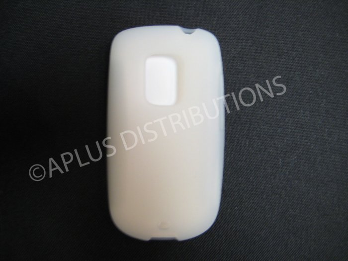 New Clear Solid Color Silicone Skin Case For HTC Hero Cdma - (0007)