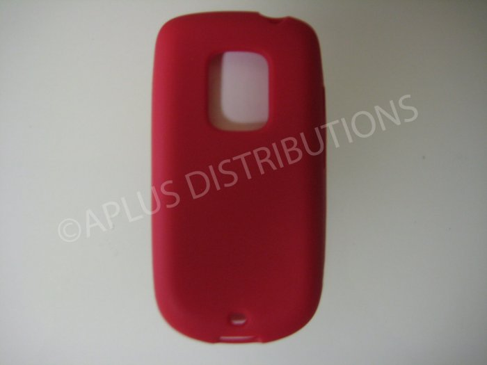 New Red Solid Color Silicone Skin Case For HTC Hero Cdma - (0008)