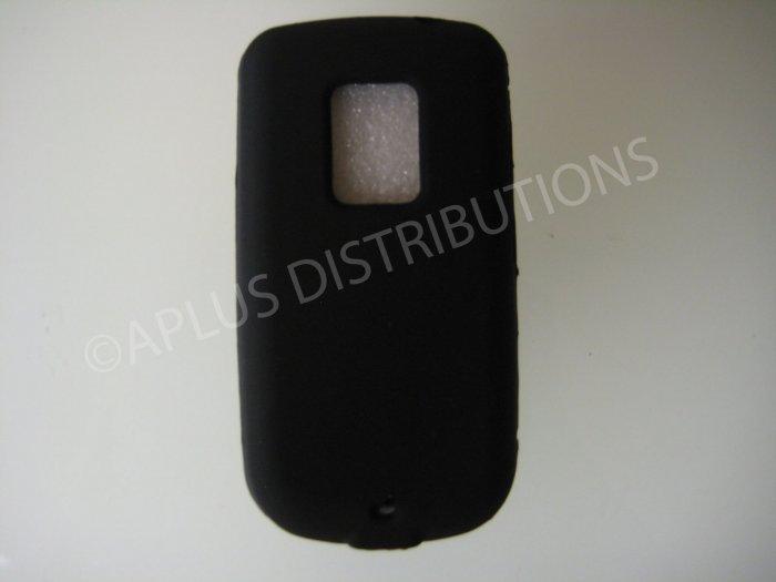 New Black Solid Color Silicone Skin Case For HTC Hero Cdma - (0006)