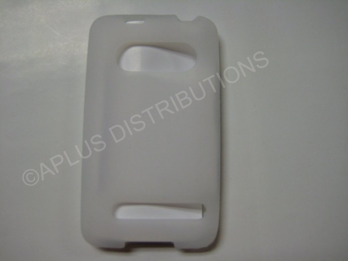 New Clear Solid Color Silicone Skin Case For HTC Evo 4G - (0007)