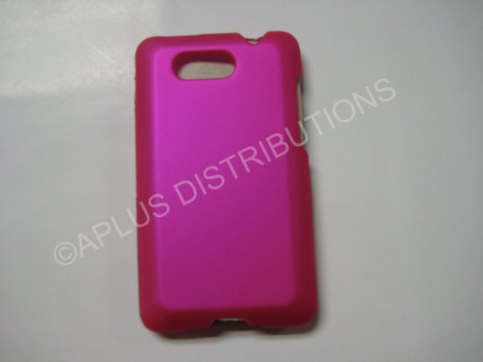 New Hot Pink Rubberized Hard Protective Cover For HTC Aria - (0055)