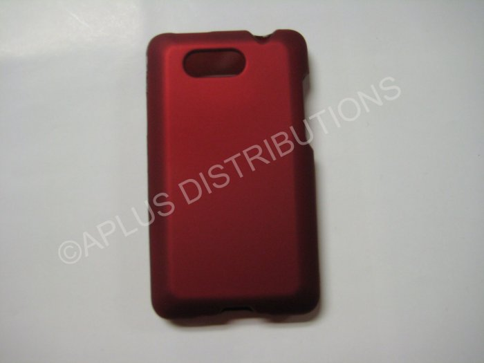 New Red Rubberized Hard Protective Cover For HTC Aria - (0054)