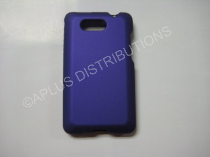 New Purple Rubberized Hard Protective Cover For HTC Aria - (0057)