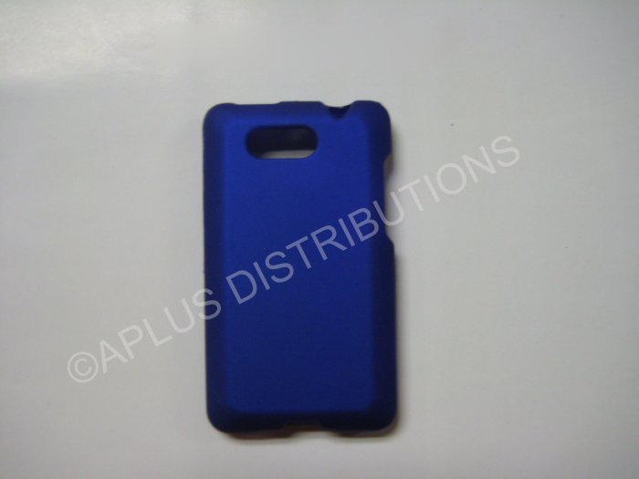 New Blue Rubberized Hard Protective Cover For HTC Aria - (0053)