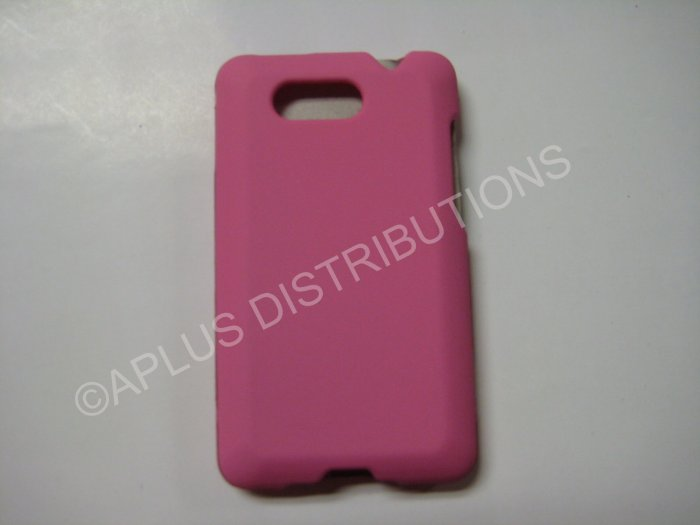 New Light Pink Rubberized Hard Protective Cover For HTC Aria - (0056)