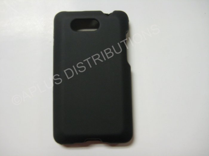 New Black Rubberized Hard Protective Cover For HTC Aria - (0051)