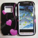 New Hot Pink Cherry Hearts Hard Protective Cover For HTC Touch Pro 2 (CDMA) - (0026)