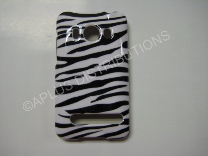 New Black Zebra Design Hard Protective Cover For HTC Evo 4G - (0001)