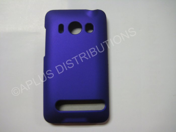 New Purple Rubberized Hard Protective Cover For HTC Evo 4G - (0057)