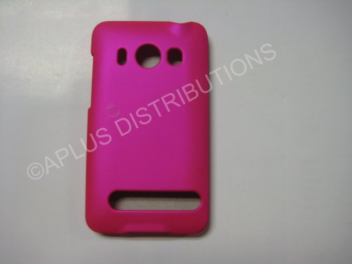 New Hot Pink Rubberized Hard Protective Cover For HTC Evo 4G - (0055)