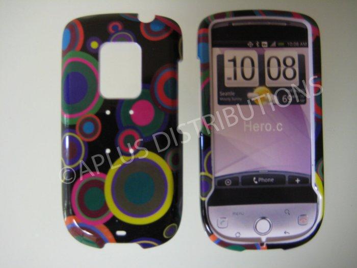 New Multi-Color Multi-Circles Hard Protective Cover For HTC Hero Cdma - (0022)