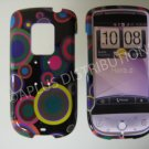 New Multi-Color Multi-Circles Hard Protective Cover For HTC Hero Cdma - (0022)