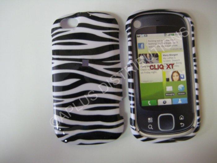 New Black Zebra Design Hard Protective Cover For Motorola Cliq XT MB501 - (0001)