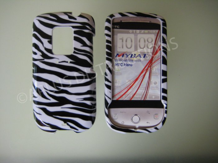 New Black Zebra Design Hard Protective Cover For HTC Hero Cdma - (0001)