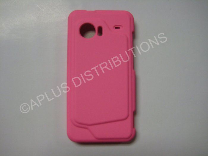 New Light Pink Rubberized Hard Protective Cover For HTC Evo 4G - (0056)