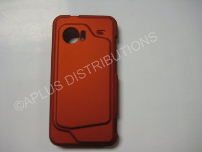 New Burt Orange Rubberized Hard Protective Cover For HTC Droid Incredible - (0058)