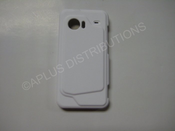 New White Rubberized Hard Protective Cover For HTC Droid Incredible - (0052)