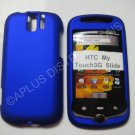 New Blue Rubberized Hard Protective Cover For HTC My Touch Slide 3G - (0053)
