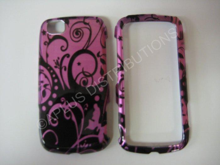 New Purple Purple Swirlz Hard Protective Cover For LG Sentio GS505 - (0024)