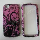 New Purple Purple Swirlz Hard Protective Cover For LG Sentio GS505 - (0024)
