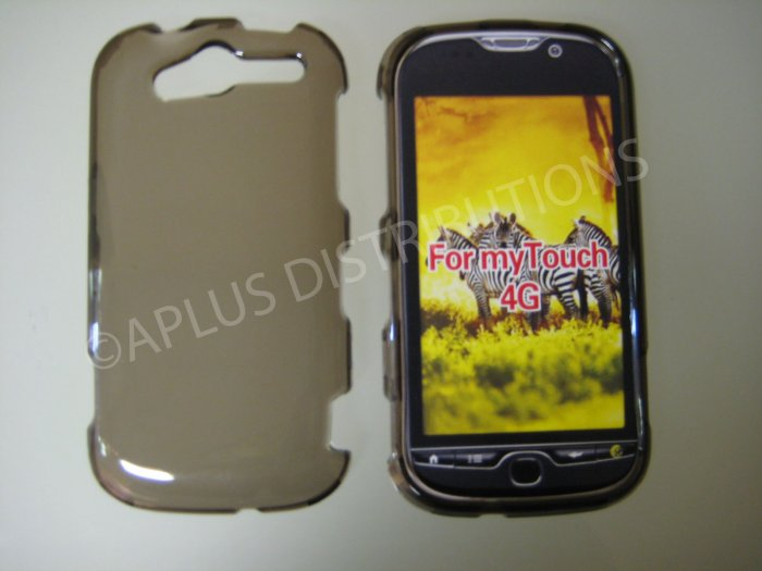 New Smoke Transparent Hard Protective Cover For HTC My Touch 4G - (0060)