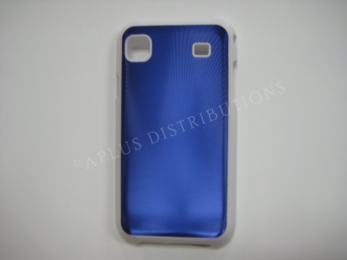 New Blue Vinyl Pattern Hard Protective Cover For iPhone 4 - (0077)