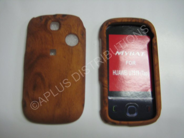 New Brown Wood Grain Design Hard Protective Cover For T-Mobile Tap - (0032)