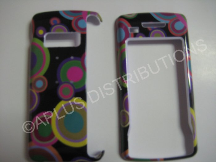 New Multi-Color Multi-Circles Hard Protective Cover For LG Env Touch Lx11000 - (0022)