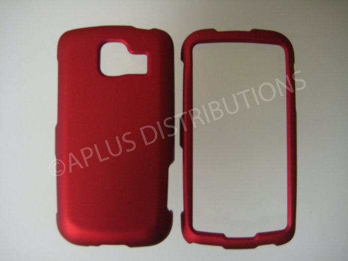 New Red Rubberized Hard Protective Cover For LG Optimus S LS670 - (0054)
