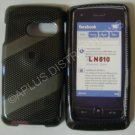New Gray Checkered W/Strips Hard Protective Cover For LG Rumor Touch LN510 - (0027)