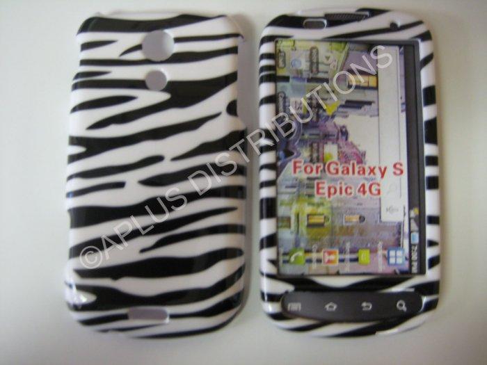 New Black Zebra Design Hard Protective Cover For Samsung Epic 4G - (0001)