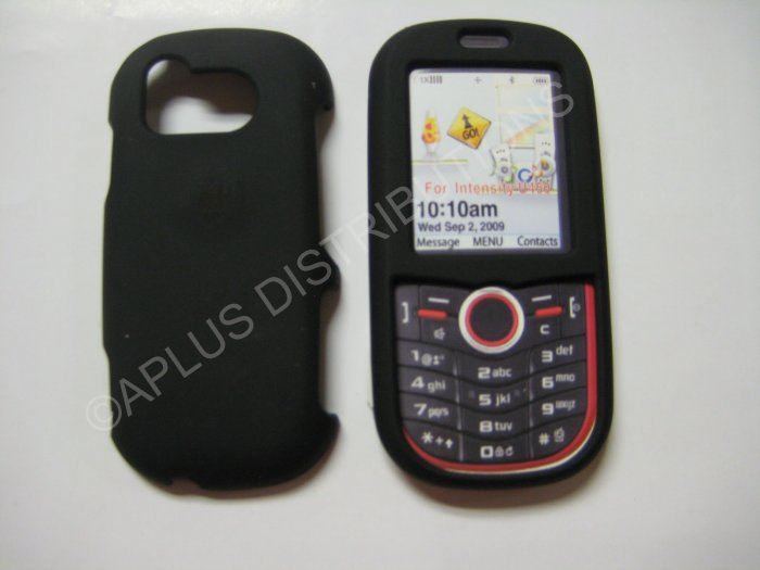 New Black Rubberized Hard Protective Cover For Samsung Intensity U450 - (0051)