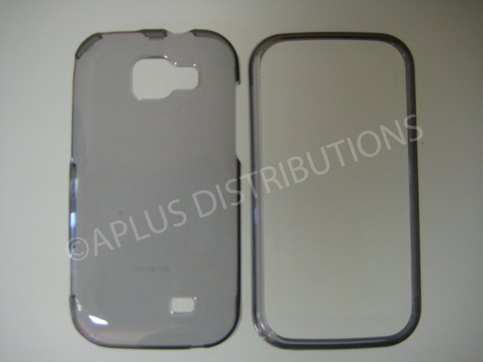 New Smoke Transparent Hard Protective Cover For Samsung Transform M920 - (0060)