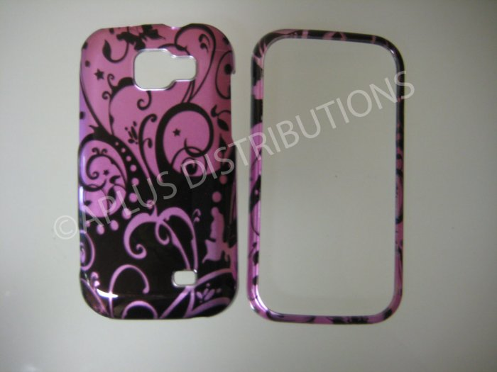 New Purple Swirlz Hard Protective Cover For Samsung Transform M920 - (0024)