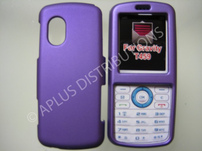 New Purple Rubberized Hard Protective Cover For Samsung Gravity T459 - (0057)