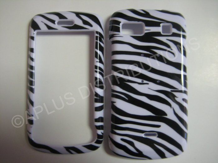 New Black Zebra Design Hard Protective Cover For LG Xenon GS505 - (0001)